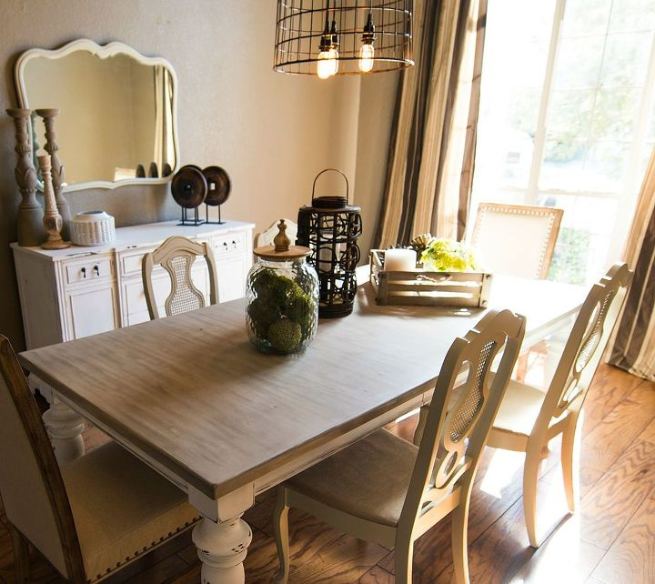 Updated Dining Room Before And After Ideas Lighting Painted Furniture