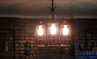 repurposed reclaimed light fixture, crafts, lighting, repurposing upcycling