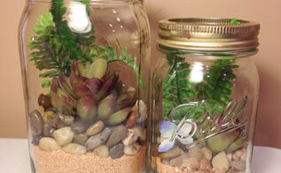 diy mason jar terrarium, gardening, home decor, mason jars, repurposing upcycling, terrarium