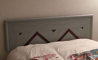 recycled wood headboard, bedroom ideas, painted furniture