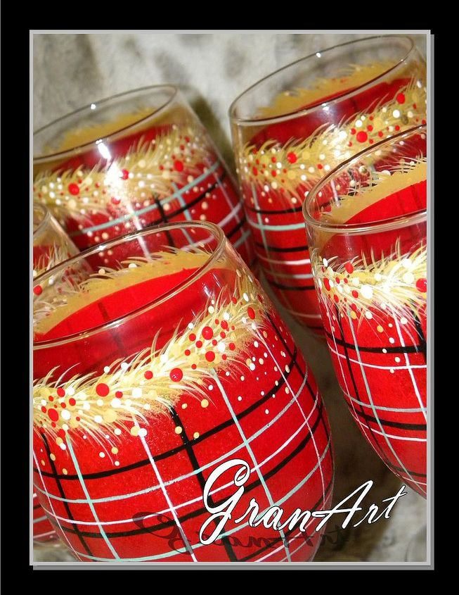 Painted wine glass by granart hometalk for Holiday wine glass crafts