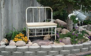 from repurposed bed to bench, outdoor furniture, repurposing upcycling