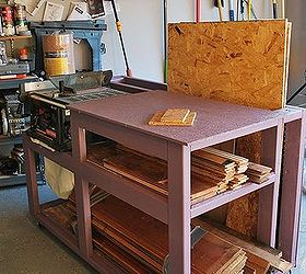 Table Saw Workbench With Wood Storage, Painted Furniture, Storage Ideas, Woodworking  Projects