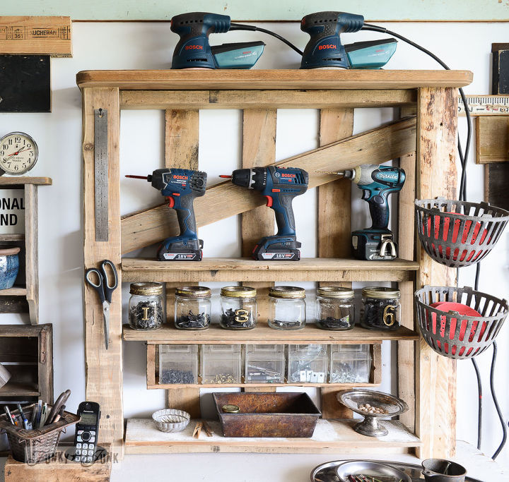 Pallet Shelves Ideas: From A Lowly Pallet To The Ultimate Tool Storage Shelf