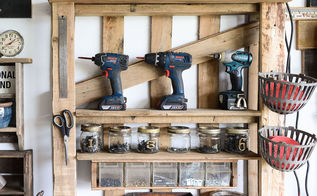 from a lowly pallet to the ultimate tool storage shelf, pallet, shelving ideas, storage ideas, tools, woodworking projects
