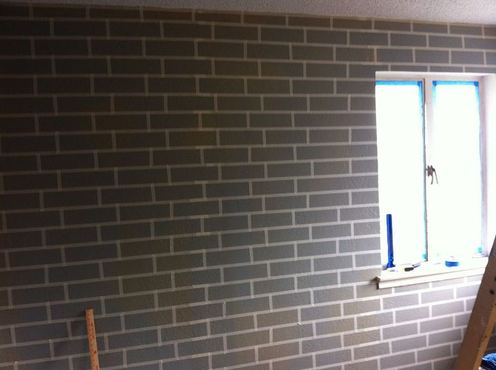 how to make a faux brick wall using paint hometalk