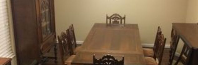 how to modernize an antique dining room set, dining room ideas, diy, how to, painted furniture