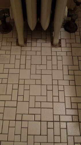 Anyone Ever Paint An Entire Tile Floor With Grout Renew Hometalk