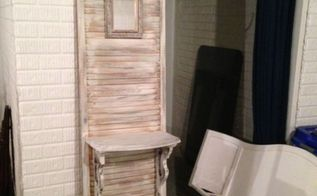 from repurposed mirror and harp shutter to beautiful hall, doors, home decor, repurposing upcycling, woodworking projects