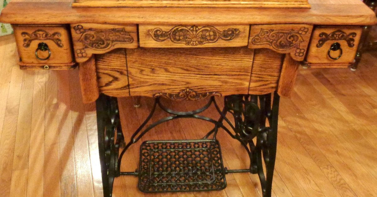 Antique treadle sewing machine cabinet repair and upcycle hometalk - Four ways to repurpose an old sewing machine ...