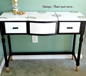 Great Repainted Glamorized Vanity, Painted Furniture