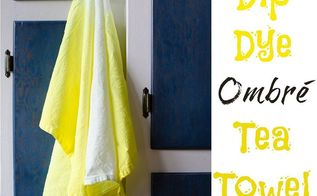 dip dye ombr tea towels, crafts, how to, kitchen design, repurposing upcycling