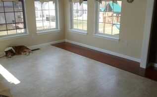 diy laminate floor installation, decks, dining room ideas, diy, flooring, kitchen design