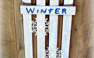 diy winter door sign, crafts, woodworking projects