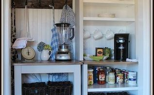 from wasted space to vintage style pantry, closet