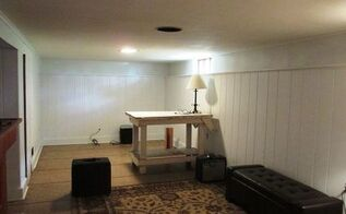 basement wall panels painted in white, basement ideas, painting