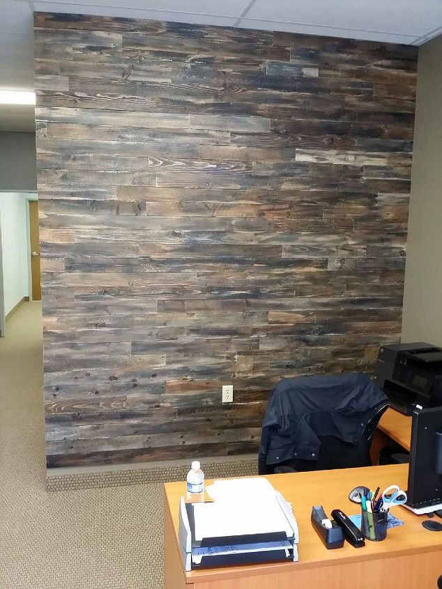 Accent Wall Made With Pallet Wood | Hometalk