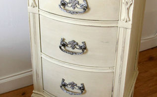cute old furniture transformed into romantic shabby chic nightstand, painted furniture, shabby chic, AFTER