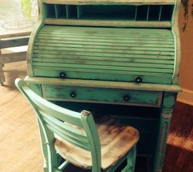 a mermaids tale vintage childs desk chalk paint painted furniture repurposing upcycling - Childs Desk