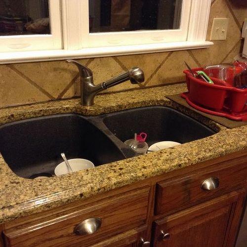 Kitchen Sinks For Granite Countertops replace sink in granite countertop | hometalk