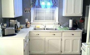 diy kitchen reno reuse repaint what you got, diy, kitchen backsplash, kitchen cabinets, kitchen design, repurposing upcycling