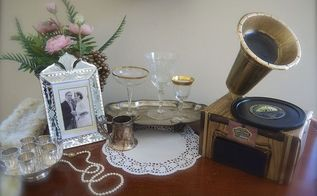 diy faux gramophone, crafts, diy, how to, repurposing upcycling