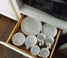 kitchen renovation our diy microwave cabinet and drawer organization, appliances, kitchen cabinets, kitchen design, organizing