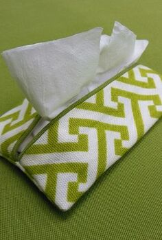 quick and easy tissue holder, crafts, how to, Quick An Easy Tissue Holder