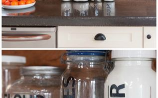 kitchen organization with pantry storage jars, closet, kitchen design, organizing, storage ideas
