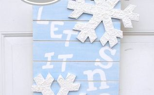 winter snowflake sign, crafts