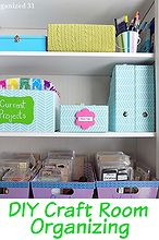 diy craft room organizing, craft rooms, crafts, organizing