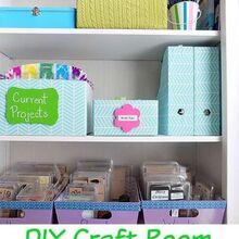 diy craft room organizing, craft rooms, crafts, organizing