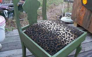repurposed old rocking chair into dog bed, painted furniture, repurposing upcycling, After