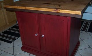 repurposed cabinets to kitchen island, kitchen design, kitchen island, painted furniture, repurposing upcycling, woodworking projects