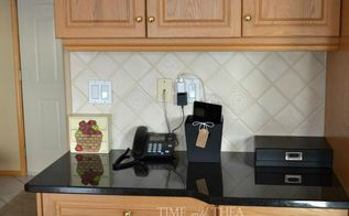 dollar store mobile device charging station, chalkboard paint, home decor, storage ideas