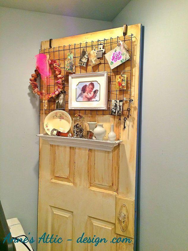 Ideas For Old Doors 1_door_table Repurposing An Old Door Doors Painted Furniture Repurposing Upcycling Shelving Ideas
