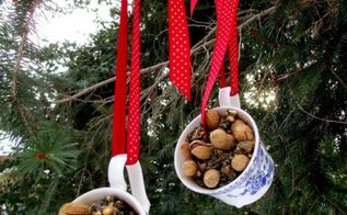 repurposed tea cups to bird feeders, outdoor living, pets animals, repurposing upcycling, Teacup Birdfeeders