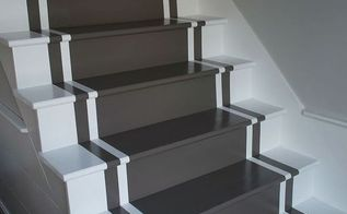 diy painted stair runner, diy, home decor, painting, stairs