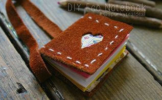 diy eco notebook vday crafts, crafts, how to