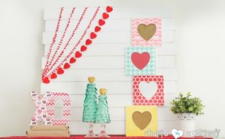 stenciled valentine heart frames, crafts, seasonal holiday decor, valentines day ideas