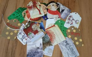 repurposing my christmas cards into christmas tags, crafts, how to, repurposing upcycling, Goodbye Christmas cards Hello gift tags