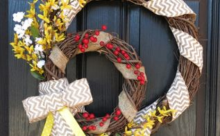 double welcome wreath decorated to span the seasons and holidays, crafts, wreaths