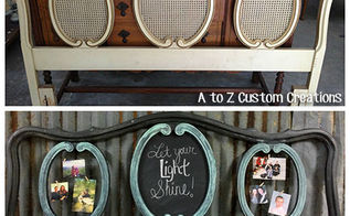 outdated headboard gets new life as a command center, chalkboard paint, crafts, how to, organizing, painted furniture, repurposing upcycling