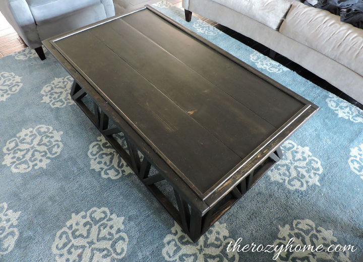 70 diy restoration hardware inspired coffee table hometalk for Coffee table 70 x 70