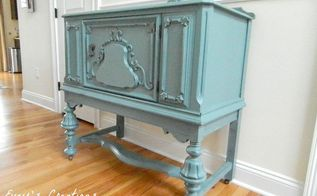 a pretty blue vintage vanity redo, how to, painted furniture, repurposing upcycling