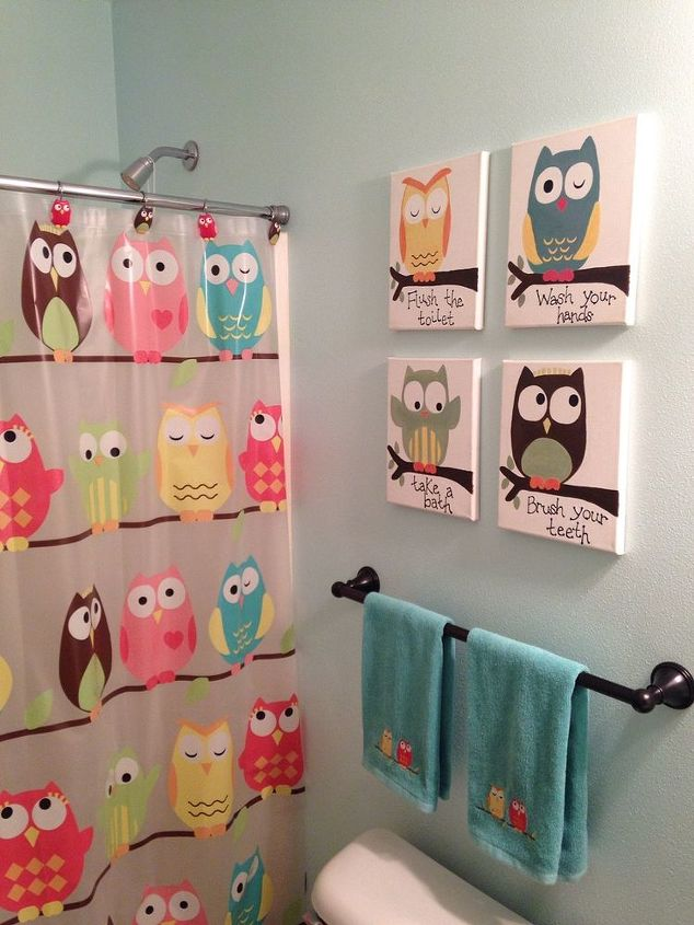Kids Owl Bathroom Art Hometalk