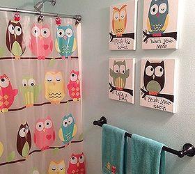 Kids Owl Bathroom Art, Bathroom Ideas, ...