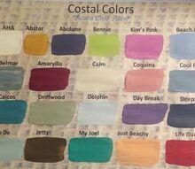 coastal colors beach chic paint colors, chalk paint, paint colors, painted furniture, painting