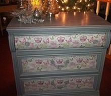 diy french inspired decoupaged chest, decoupage, painted furniture