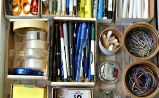 how i organized my junk using free stuff from my recycle bin, crafts, how to, organizing, storage ideas